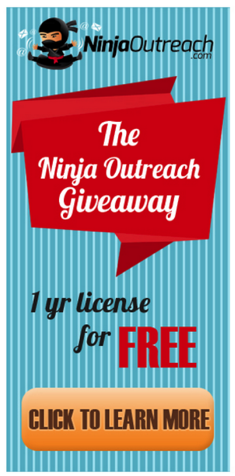 ninja outreach giveaway