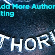 add more authority to writing
