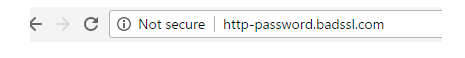 non ssl URL bar in browser