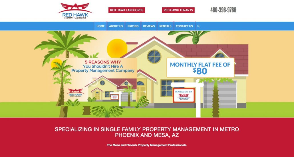 Red Hawk Property Management website