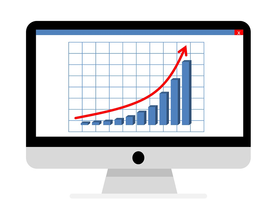growth chart on computer