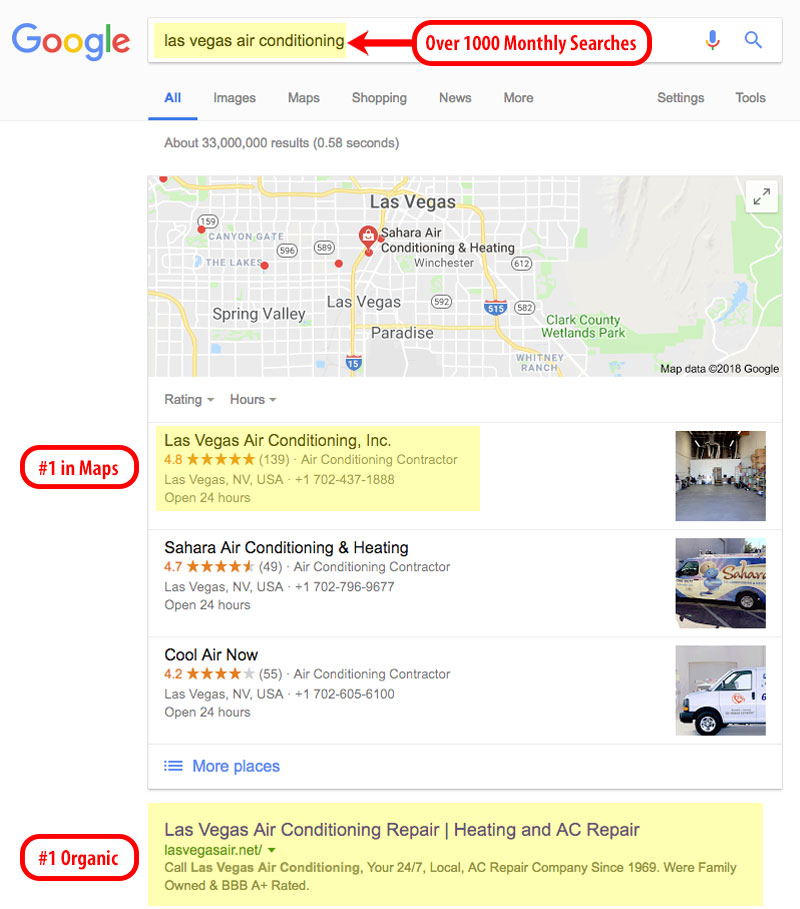 seo ranking example for client